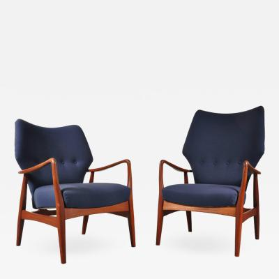 Aksel Bender Madsen Pair of Lounge Chairs by Aksel Bender Madsen for Bovenkamp Netherlands 1950