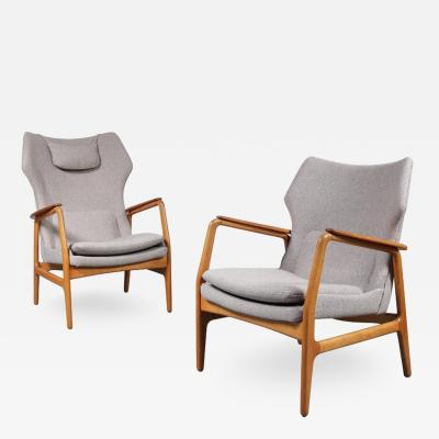 Aksel Bender Madsen Set of Two Easy Chairs by Aksel Bender Madsen for Bovenkamp circa 1950