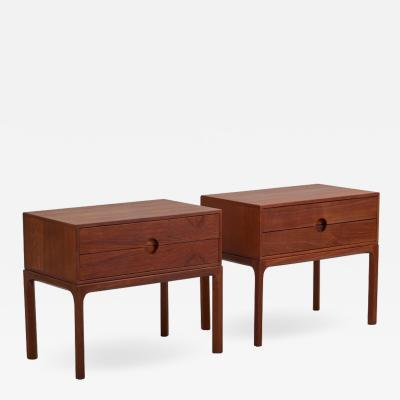 Aksel Kjersgaard Pair of Teak Nightstands by Aksel Kjersgaard for Odder Denmark 1955