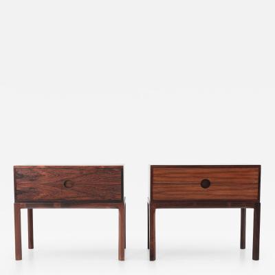 Aksel Kjersgaard Scandinavian Midcentury Bedside Tables in Rosewood by Kai Kristiansen 1960s