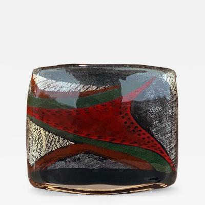 Alain Begou French Art Glass Vase by Marisa et Alain B gou