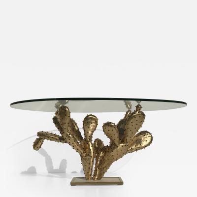 Alain Chervet Alain Chervet Brass Prickly Pear Cactus Coffee Table