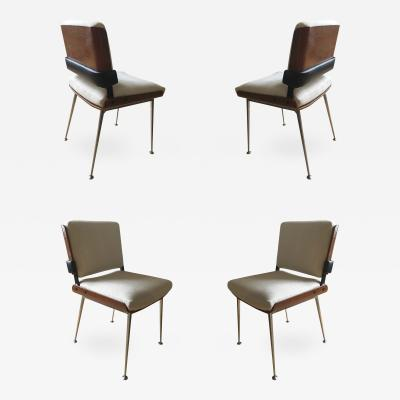 Alain Richard Alain Richard 1960s Set of 4 Chairs Fully Restored Dining Chairs