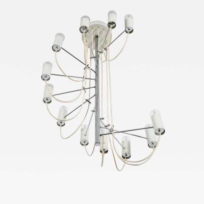 Alain Richard French Mid Century Minimalist A16 Chandelier by Alain Richard for Disderot
