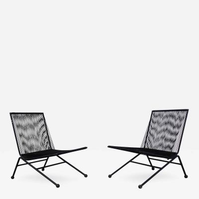 Alan Gould Pair of Bow Chairs by Alan Gould