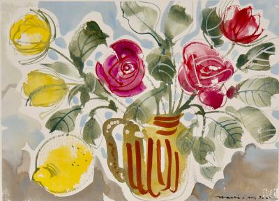 Alan Halliday Alan Halliday A collection of Watercolours of Fruits and Flowers