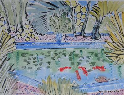 Alan Halliday Alan Halliday The Goldfish Pond Jardin Majorelle