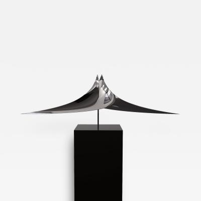 Alata Cubus Polished Stainless Steel Sculpture Geometra Collection