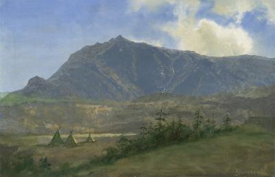 Albert Bierstadt Indian Encampment