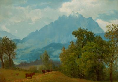 Albert Bierstadt Mount Pilatus above Lake Lucerne