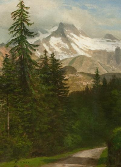 Albert Bierstadt Mountain Scene