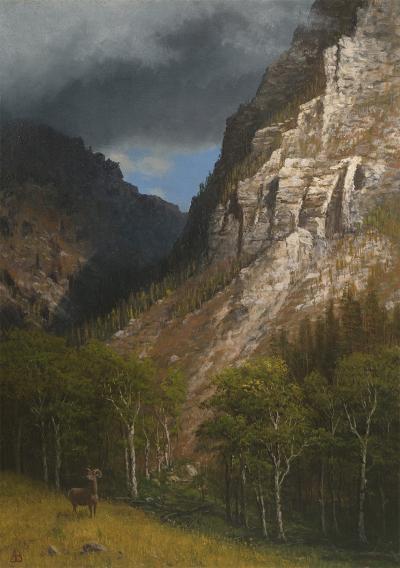 Albert Bierstadt Pass into the Rockies