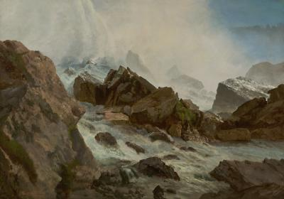 Albert Bierstadt View of Niagara Falls from Prospect Point