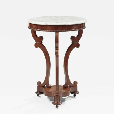 Albert Brown Classical Marble Top Mahogany Gueridon