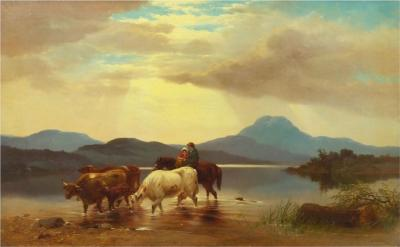 Albert Fitch Bellows Homeward Bound 1863 American Landscape Painting by Albert Fitch Bellows
