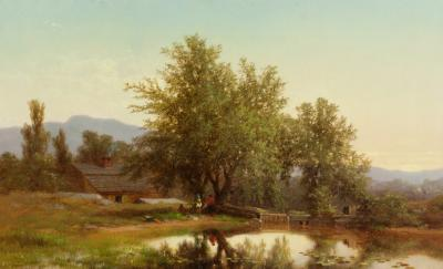 Albert Fitch Bellows Landscape with Pond 1862