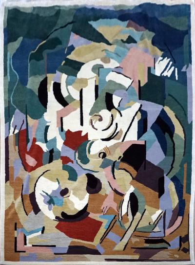 Albert Gleizes Limited Edition Artistic Handmade Wool Rug after Albert Gleizes N 39