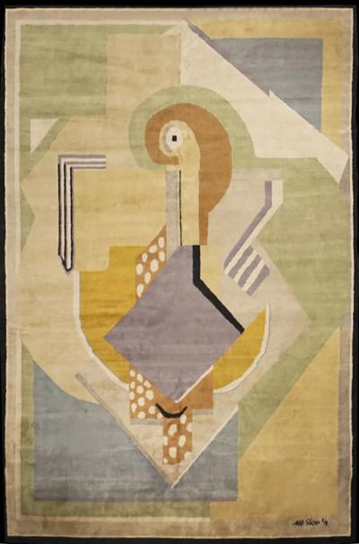 Albert Gleizes Limited Edition Artistic Handmade Wool Rug after Albert Gleizes by Boccara N 35