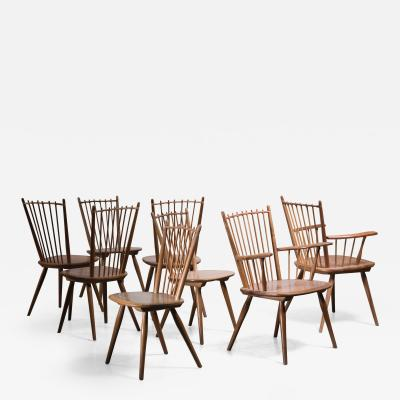 Albert Haberer Albert Haberer set of 8 Arts and Crafts chairs Germany 1950