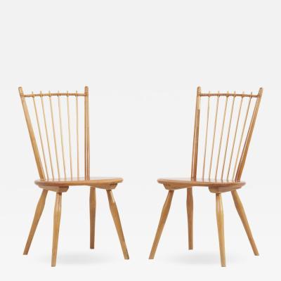 Albert Haberer Pair of Dining Chairs by Albert Haberer for Hermann Fleiner Germany 1950s
