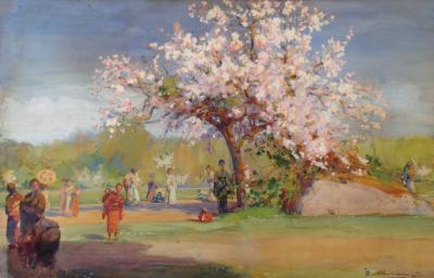 Albert Herter Cherry Blossoms