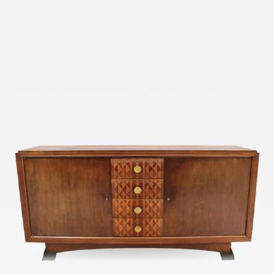 Albert Lucien Guenot Fine French Art Deco Mahogany Sideboard by Albert Guenot for Pomone