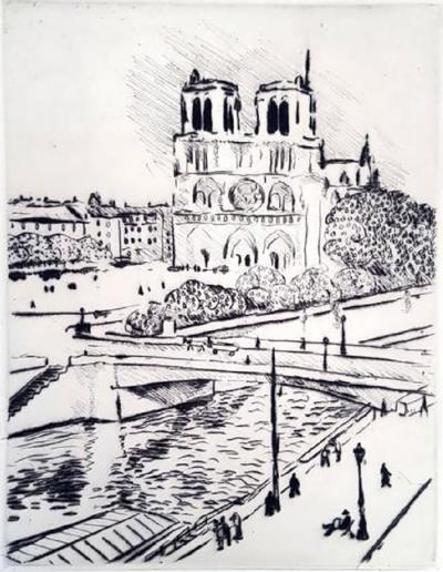 Albert Marquet Albert Marquet Notre Dame Original Etching 1927