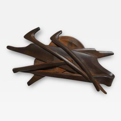 Albert Paley Albert Paley 1994 Medallion Paperweight in Blackened Steel with Rust Patina