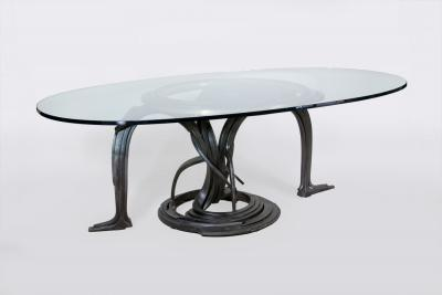 Albert Paley Custom Forged Steel Dining Table