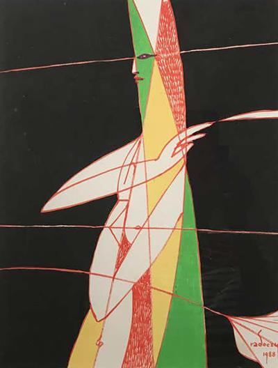 Albert Radocsy Gouache 1988 2