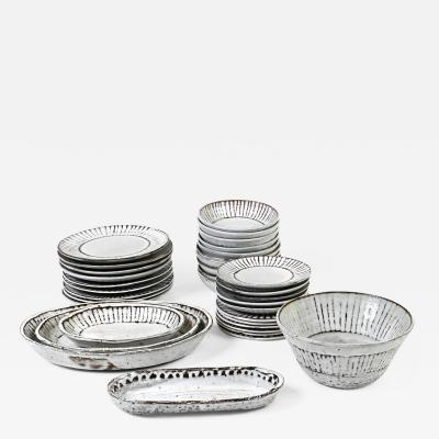 Albert Thiry 33 Ceramic plates dishes serving bowls by Albert Thiry