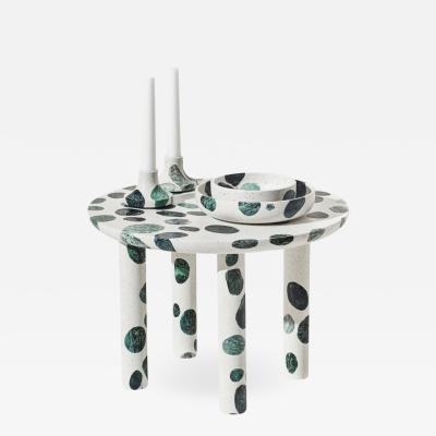 Alberto Bellamoli Collecta Circular Coffee Table or Side Table In Terrazzo by Alberto Bellamoli