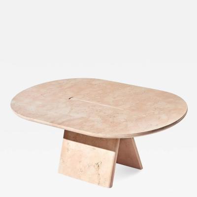 Alberto Bellamoli Lasta Coffee Table Or Side Table Table Low in Pink Marble by Alberto Bellamoli