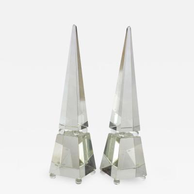 Alberto Dona Fine Pair of Monumental Murano Glass Obelisks by Alberto Dona