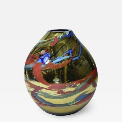 Alberto Dona Murano Multicolor mirrored Vase