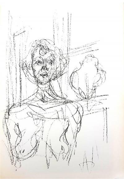 Alberto Giacometti Alberto Giacometti Composition Original Lithograph 1964