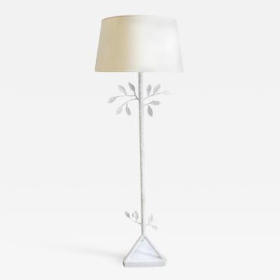 Alberto Giacometti Cream White Floor Lamp in the Style of Giacometti