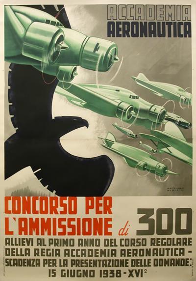 Alberto Mastroianni Italian Futurist Period Poster by Alberto Mastroianni 1936