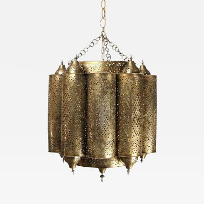 Alberto Pinto Brass Moroccan Mosque Chandelier in the Style of Alberto Pinto