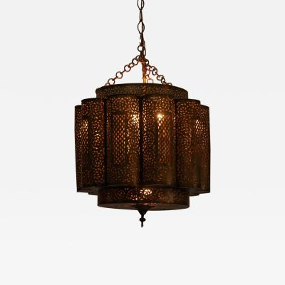 Alberto Pinto Large Brass Moroccan Chandelier in Alberto Pinto Style