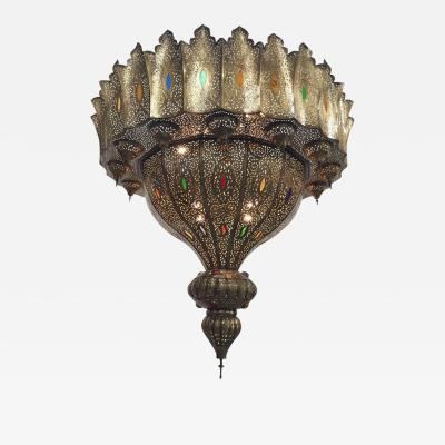 Alberto Pinto Moroccan Alhambra Moorish Brass Chandelier Alberto Pinto Style