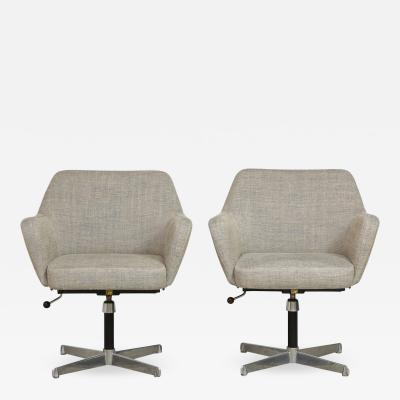 Alberto Rosselli Pair of Airone Model Office Chairs by Alberto Roselli Gio Ponti for Arflex