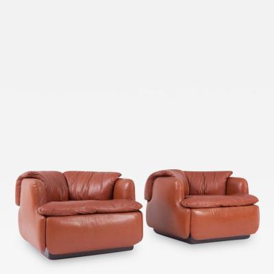 Alberto Rosselli Saporiti Confidential Leather Club Chairs by Alberto Rosselli