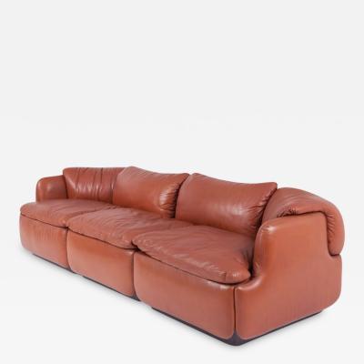 Alberto Rosselli Saporiti Confidential Leather Sofa by Alberto Rosselli