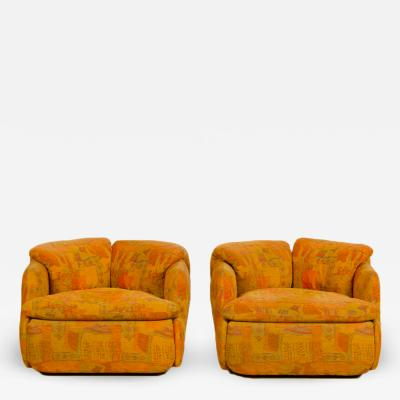 Alberto Rosselli Two armchairs part of the Confidential living room set by Alberto Rosselli