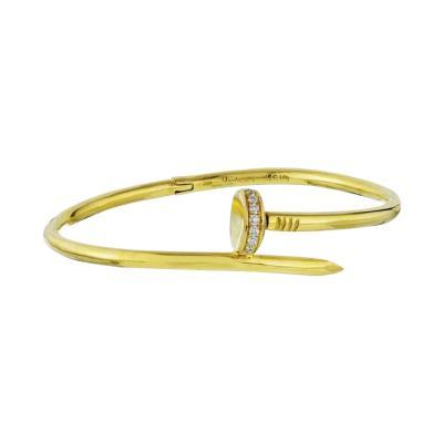 Aldo Cipullo ALDO CIPULLO CIRCA 1971 18K YELLOW GOLD DIAMOND NAIL BRACELET