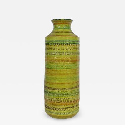 Aldo Londi Aldo Londi Bitossi for Rosenthal Netter Incised Spring Green Ceramic Vase