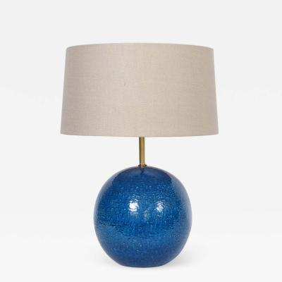 Aldo Londi Aldo Londi for Bitossi Persian Blue Ball Table Lamp circa 1950s