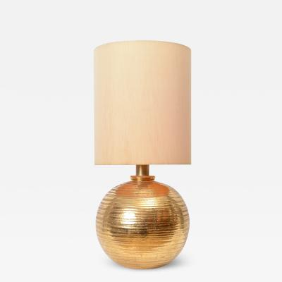 Aldo Londi Bitossi Gold Ceramic Table Lamp c 1960