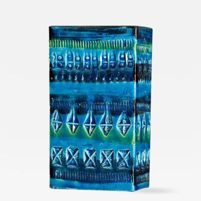 Aldo Londi Bitossi Rimini Blue Rectangular Vase